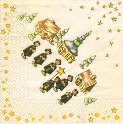 Carolers German Village Napkins