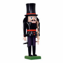 Chimney Sweep German Nutcracker Red Trim NCK209X14