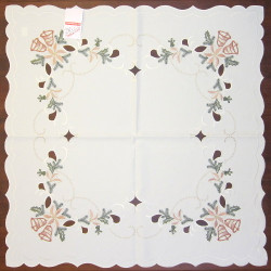 Christmas Bells Holly Table Topper Square Tablecloth