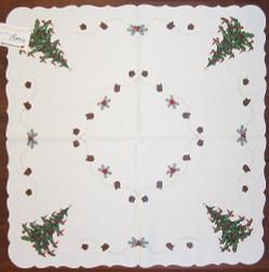 Christmas Tree German Linen Tablecloth
