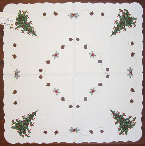 Christmas Tree German Linen Tablecloth