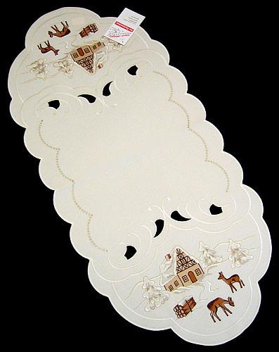 Christmas Winter German Linen Tablecloth