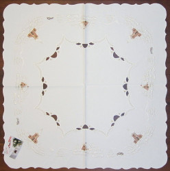 Christmas Winter Village German Linen Tablecloth