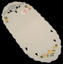 Easter Egg Tablecloth German Linen Oval
