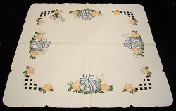 Easter Egg Tablecloth Tabletopper 87X87