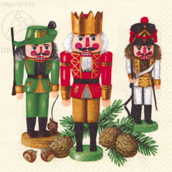 Erzgebirge Nutcracker German Napkins