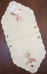 German Angel Linen Runner Table Topper