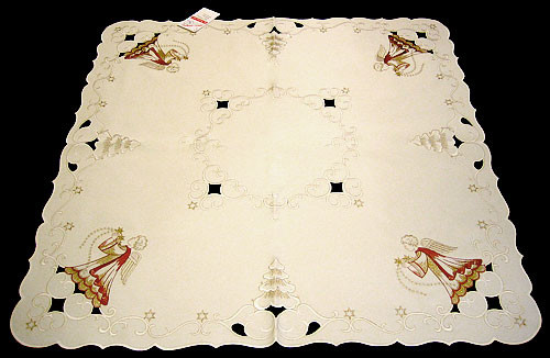 German Angel Square Linen Tablecloth