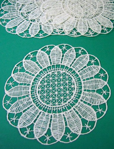 German Lace Coaster Set of 6 Large