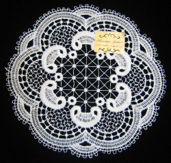 German Lace Round Doily Table Topper