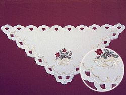German Linen Christmas Bell Tablecloth Triangle
