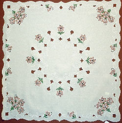 German Table Topper Lily Square Tablecloth