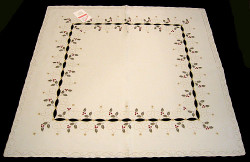 Holiday Holly Linen Square Tablecloth