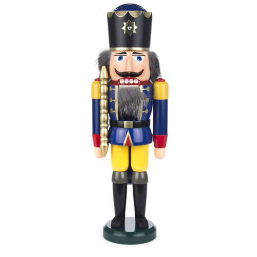 German Nutcracker King Wilhelm Blue Sun Crown