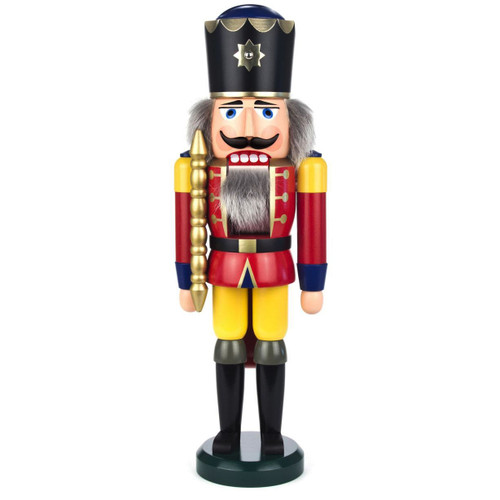 German Nutcracker King Wilhelm Red Yellow