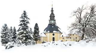 Die Bergkirche zu Seiffen im Erzgebirge