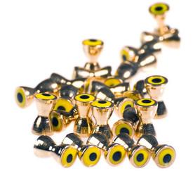 Brass Barbell w/eyes