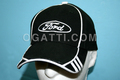 HAT FORD OEM NEW BLACK & WHITE CAP OVAL HAT WHITE - BLACK 1901-2013 #300603