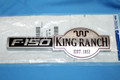 BRAND NEW OEM EMBLEM F150 KING RANCH 2009- 9L3Z-16720-JB