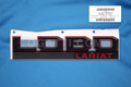 BRAND NEW OEM FENDER EMBLEM 2015-2016 FORD LOBO LARIAT RED&BLACK RH GL3Z-16720-G