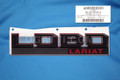 BRAND NEW OEM FENDER EMBLEM 2015-2016 FORD LOBO LARIAT RED&BLACK LH GL3Z-16720-H