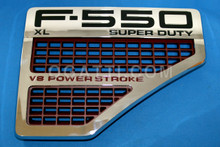 VENT F550 XL SUPER DUTY AND V8 POWER STROKE RIGHT SIDE EMBLEM 2008-2010