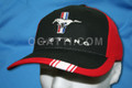 300614-1 | HAT MUSTANG PONY & BARS CAP MUSTANG BLACK-RED PONY 1901-2013