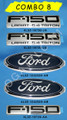 F-150 XL 5.4 LARIAT TRITON EMBLEM COMBO SET 5 PIECES 2004-2008
