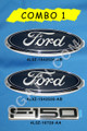 F-150 OVAL EMBLEM BADGE FRONT GRILLE AND TAILGATE 2004-2008  #4L3Z-1542528-AB X 2 OVAL  AND 4L3Z-16720-AA F150 TAILGATE