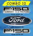 F150  XLT 5.4 EMBLEM COMBO SET 3 PIECES FENDER, TAILGATE AND OVAL 2004-2008