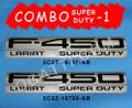 F-450 LARIAT SUPER DUTY EMBLEM COMBO OR SET 2 PIECES F450 2005-2007