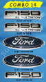 F-150 XL 5.4 TRITON EMBLEM COMBO SET 5 PIECES 2004-2008