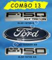 F-150 XLT TRITON EMBLEM COMBO SET 3 PIECES 2004-2008
