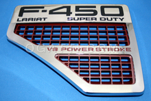 """VENT F-450 LARIAT SUPERDUTY"" V8 POWER STOKE FENDER LH SIDE 2008-2010 #8C3Z-16228-B and 8C3Z-16720-P"