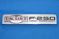 BRAND NEW OEM EMBLEM F250 KING RANCH LARIAT SUPER DUTY 2008-2010 RH or LH # 8C3Z-16720-E