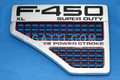 VENT AND EMBLEM F450 XL SUPER DUTY V8 POWER STROKE EMBLEM FORD FENDERS LH Driver side 2008-2010 | also the Vent applies FORD F-250-350-550 SUPER DUTY
