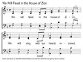 We Will Feast In The House of Zion Song Slides