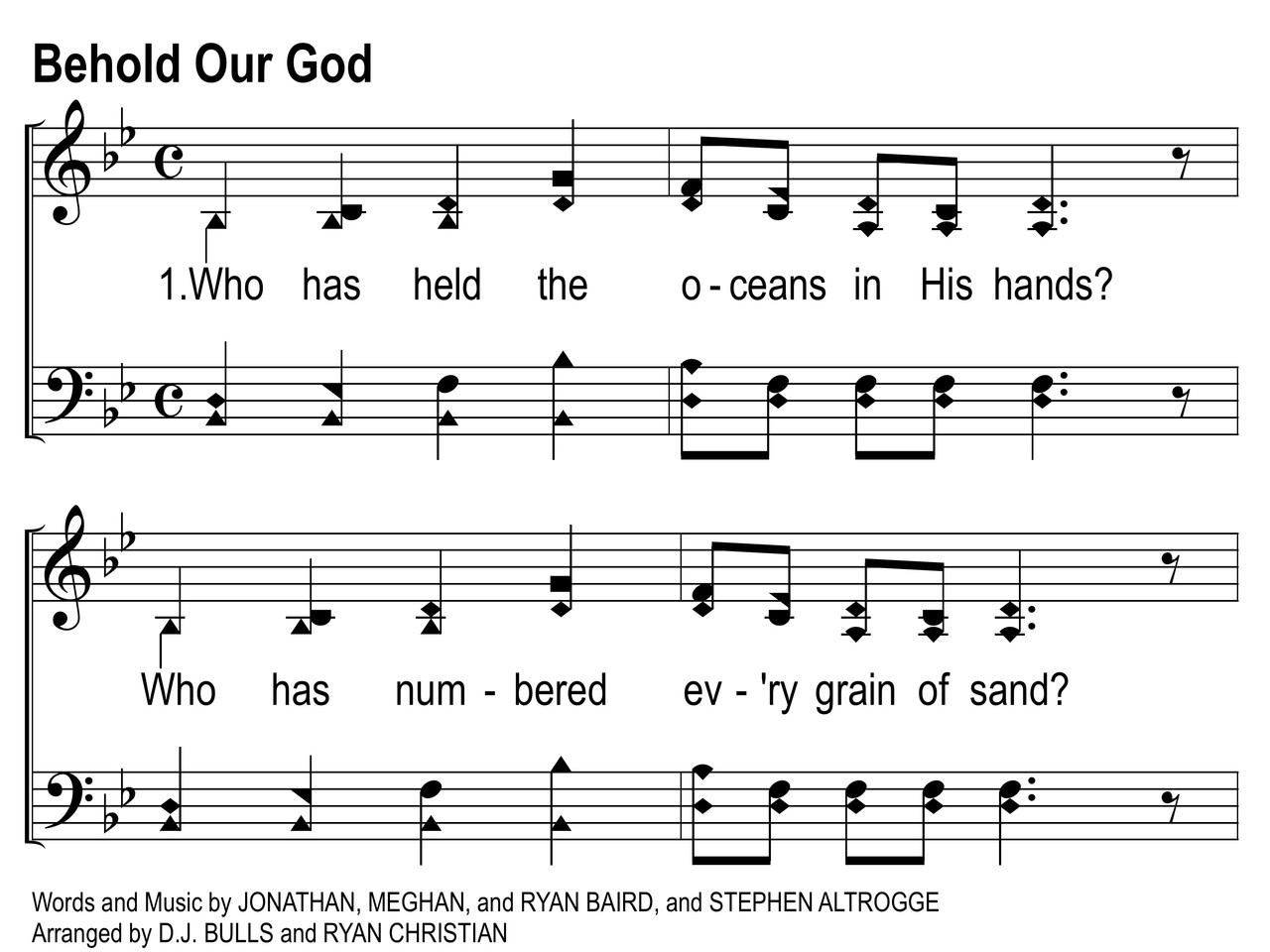 Christian song our god