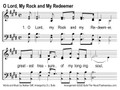 O Lord, My Rock and My Redeemer Powerpoint Slides