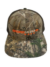Broadhead Barn Khaki/Flo Orange Logo Camo Cap