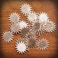 Copper Blank Sunburst Stamped Shape for Enamelling & Other Crafts