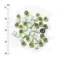 Millefiori - 50g pack (M049), green, 3-4mm