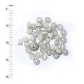 Millefiori - 50g pack (M058), white, 3-4mm
