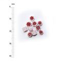 Millefiori - 50g pack (M070), red, 3-4mm