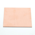 Square copper sheet for enamelling