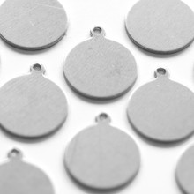 Aluminium tag for craft and jewellery making