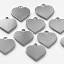 Aluminium heart tag for jewellery crafts