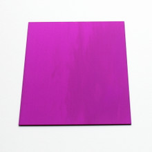 Purple anodised aluminium square
