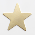 Star, medium, 5 point - 10 Pack (Brass Blank 957)