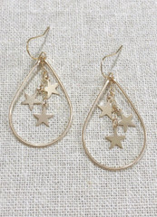 Seeing Stars Teardrop Hoop earring